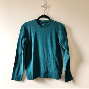 Uniqlo Long Sleeve Teal Shirt